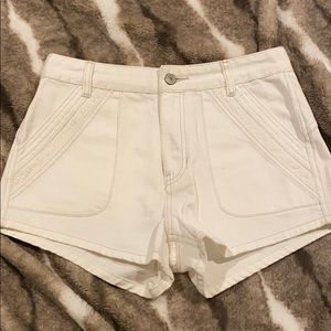 FP WHITE DENIM NWOT